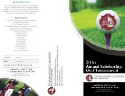 Texas A&m University-San Antonio Foundation Annual Scholarship Golf ...