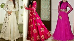 Designer Gowns For Indian Wedding Beautiful Party Gown Design Ideas For Indian Wedding Guest New Embroidered Dresses For Girls