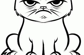Grumpy Cat Coloring Pages At Getdrawingscom Free For Personal Use