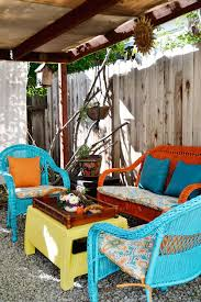 furniture for small patio. an easy patio update with vivid islandinspired color furniture for small