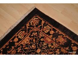 dark chocolate brown color hall runner vegetable dyed chobi rug