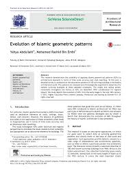 Islamic Art And Architecture The System Of Geometric Design Evolution Of Islamic Geometric Patterns Topic Of Research