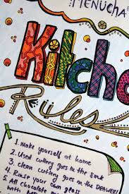 Small Picture Free Printable Kitchen Rules Coloring Page for Adults