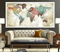 map wall art world map poster watercolor world map art print art watercolour world map art map wall art large canvas world