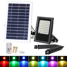 Outdoor Color Changing Led Lights Us 82 79 31 Off T Sun 50w Colour Changing Led Outdoor Security Floodlight Ip65 Remote Control Dimmable Solar Flood Light For Decking Lighting In