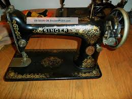 Antique 1918 Singer Sewing Machine Model 66 With Shell Decoration ...