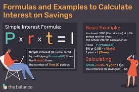 Monthly Principal And Interest Chart Formulas And Examples To Calculate Interest On Savings
