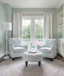 floor lamp in corner behind one chair designed by jocelyn chiappone of digs design company photos nat rea sarah richardson fabric collection for kravet bedroom sitting room furniture