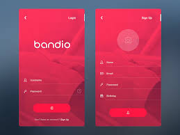 Sign In App Bandio App Login Sign Up By Adit Septian Dribbble Dribbble