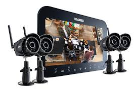 Home security camera system with 4 wireless cameras and 7inch monitor