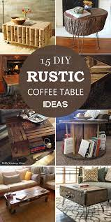 15 diy rustic coffee table ideas
