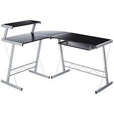 gaming corner desk.  Desk BHG L Shape Computer Desk Black On Gaming Corner Desk O