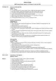 Serving Resume Examples Bar Server Resume Samples Velvet Jobs 13