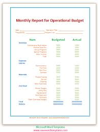 microsoft word budget template replacethis monthly report for operational budget template sample