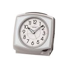 silver finish battery bell alarm clock qhk040s