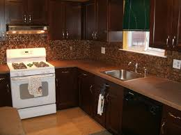Kitchen Cherry Cabinets Tile Backsplash Ideas For Cherry Wood Cabinets Home Design And