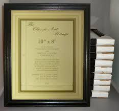 ten 10x8 inch black wood picture frames