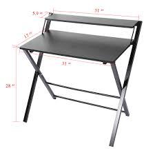 folding computer desk home office laptop desktop table black white furniture uk