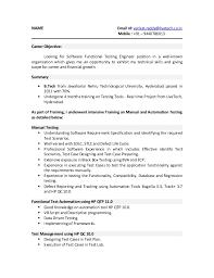 Ideas Of Manual Tester Sample Resume Testing Fresher Resume Qa