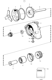 Water Pump, Components: 3183909 | Volvo Penta Cooling System ...