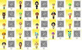 Tomodachi Life Bunch Of Qr Codes 2 By Thesingettesrback
