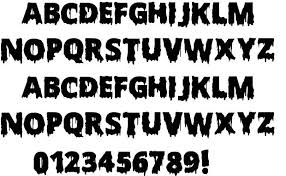 horror alphabet fonts scary images scary halloween letters  scary halloween letters font