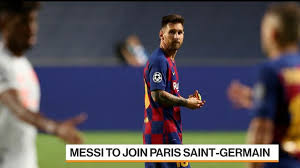 Indeed, the spanish side played a big role in the foundation of the parisian club. Lionel Messi Agrees Deal To Join Paris Saint Germain Football Club Bloomberg