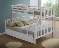 childrens bunk beds. White 3 Sleeper Bunk Bed Childrens Beds