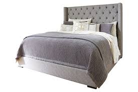 gray sorinella queen upholstered bed view 2 ashley furniture bedroom photo 2