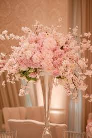 dreamy pink and white floral wedding reception centerpiece #Centerpieces