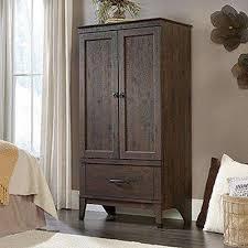bedroom wardrobe closet. Delighful Wardrobe Carson Forge Coffee Oak Armoire And Bedroom Wardrobe Closet