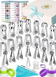 Russian Piping Tips Chart Variety Russian Piping Tips Set 69pc Instant Flower Shaped Frosting Cupcake Cake Decorating Icing Nozzles Bonus Supplies Baking Accessories