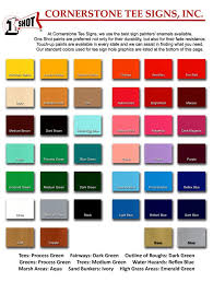 One Shot Sign Paint Color Chart