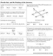 8th Grade Math Worksheets Problems Practice Printable | Calendar ...