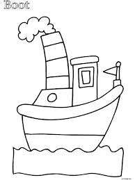 Kleurplaat Peuter Kleurplaat Boot Kleurplatennl Coloring Pages