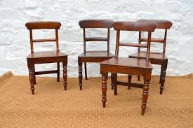 set of welsh oak farmhouse dining chairs