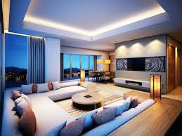indirect lighting ideas. the blue in mural compliments lighting that you see on couch and natural light from outside indirect ideas t