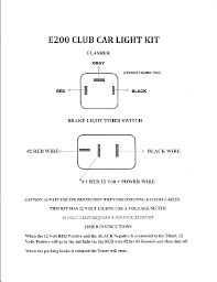 edgewater custom golf carts ez go diy brake light diagram · ez go brake light time out kit