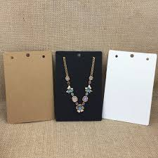 100pcs 15*10cm <b>Kraft</b> Paper Jewelry <b>Necklace Cards</b> for Big ...