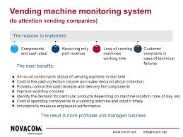 Vending Machines Profitable Business Mesmerizing Vending Machine Monitoring System IndustryBusiness Government IT