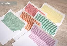 Diy Spring Wedding Envelope Liners The Elli Blog