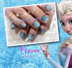 Frozen nails, nail art, winter nail designs, Elsa nails, little ...
