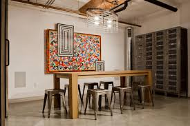 traditional dining room designs. Dining Room With Modern Art Piece And Antique Lockers Traditional Dining Room Designs