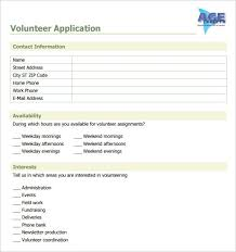 Word Forms Templates Volunteer Application Template 15 Free Word Pdf