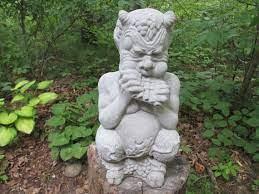15 tall cement pan satyr w flute garden