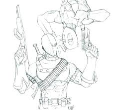Dead Pool Coloring Pages Coloring Page From Super Heroes Category