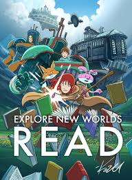 explore new worlds read by kazu kibuishi amulet themed poster i love this so much