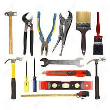Varied tools on plain background Stock Photo - 13726118