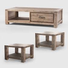 vancouver acacia wood coffee table 2 x vancouver acacia wood side tables