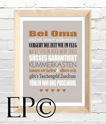 Bei Oma Print 21x305cm Von Wortspiele Made By Eazy Peazy